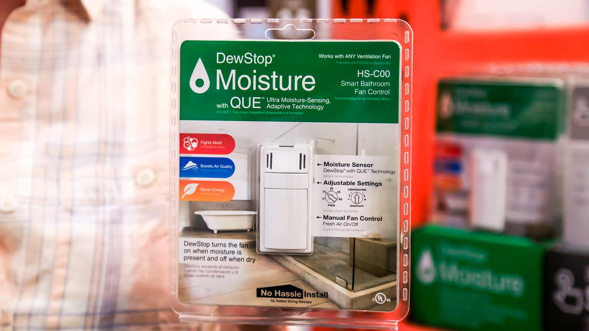 retrofit any bathroom vent fan to be humidity sensing