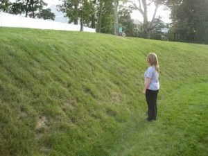 Can a tractor mow this hill? NO!