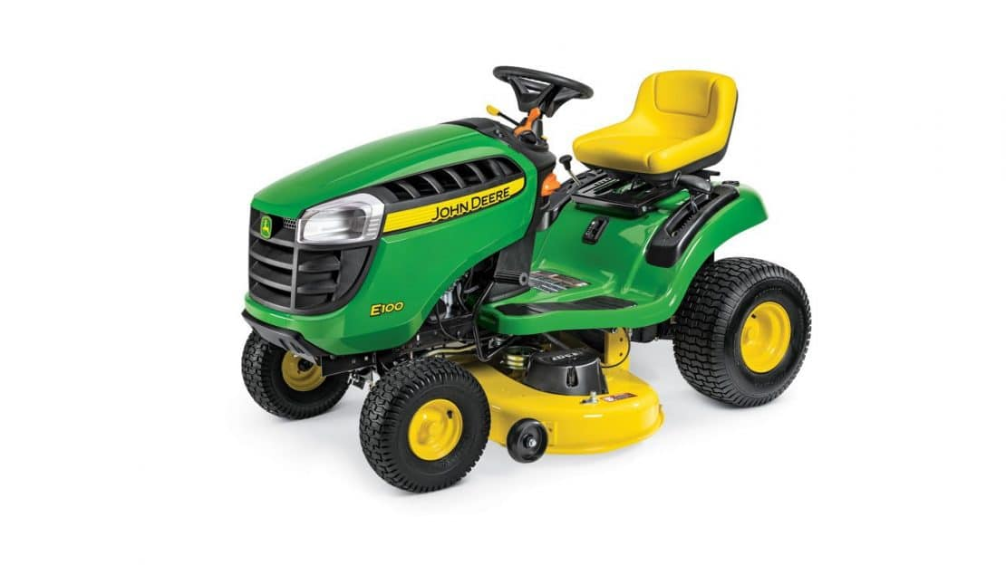which new 2018 john deere e100 series lawn tractor is right for me