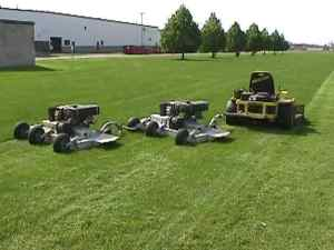 Acrease wingmowers pulled by zero turn mower
