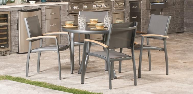 modern aluminum sling outdoor furniture