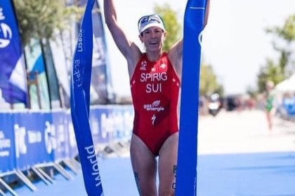 """Nicola Spirig: Swiss Professional Triathlete Olympic Champion mantra of Success """"Keep your goals out of reach, but not out of sight."""""""