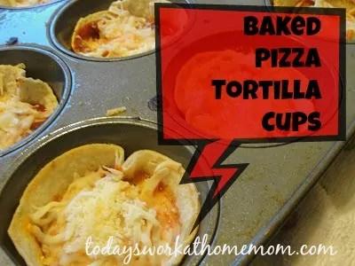 twahm baked tortilla pizza cups