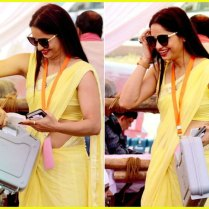 yellow_Saree_Women_photos (2)