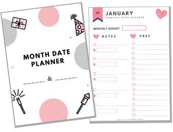 free monthly date night planner