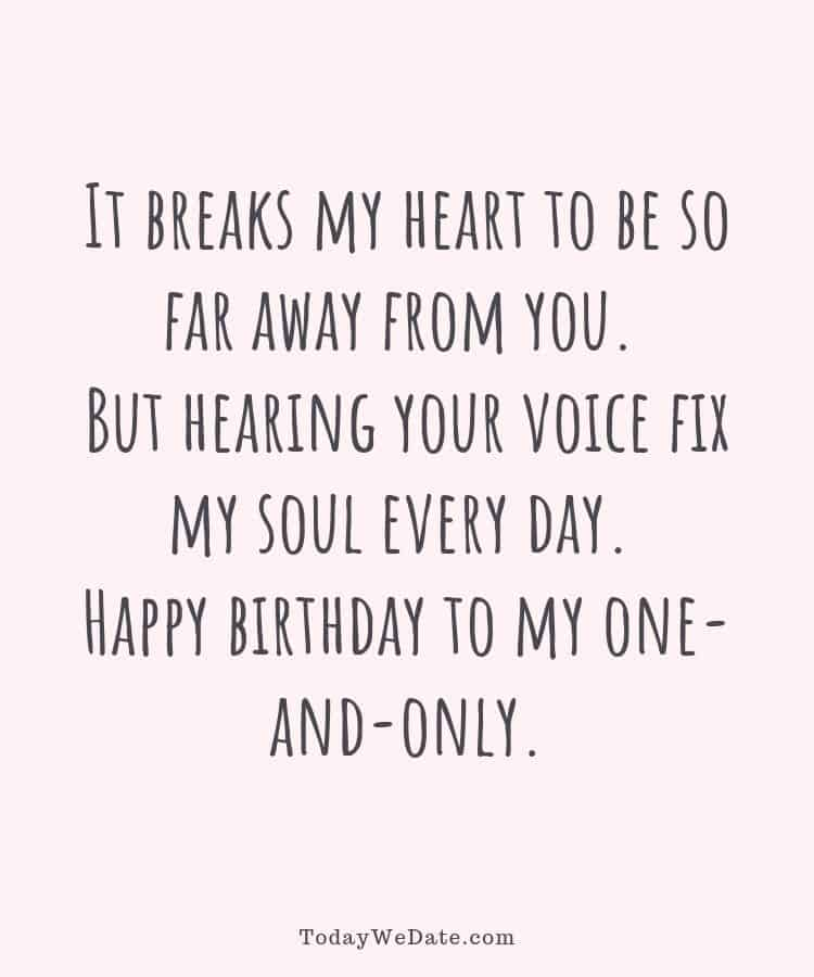 35 Long Distance Birthday Messages To Make Him Feel Your Love