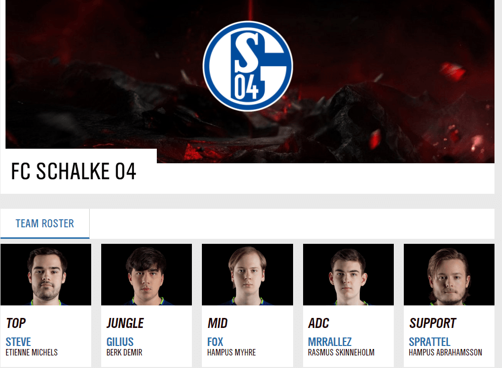 Schalke eSports DOTA Team Elements