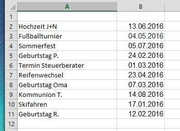 excel tabelle nach datum sortieren