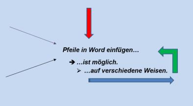 pfeil in word einfügen