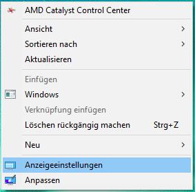 windows 10 auflösung ändern