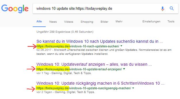 erweiterte google suche auf seite