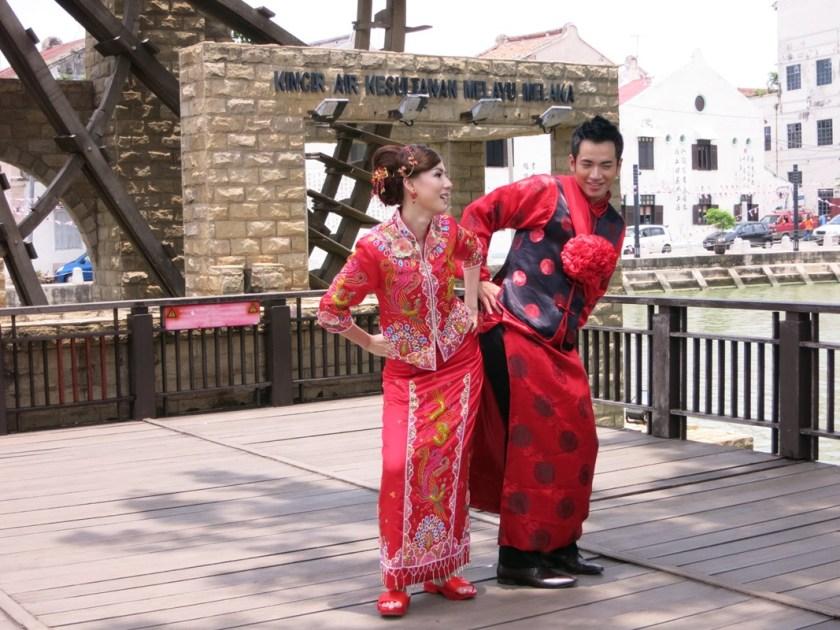 Chinesisches Brautpaar in Malakka
