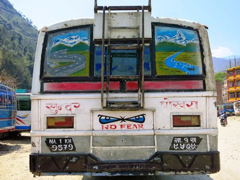 Bus in Nepal