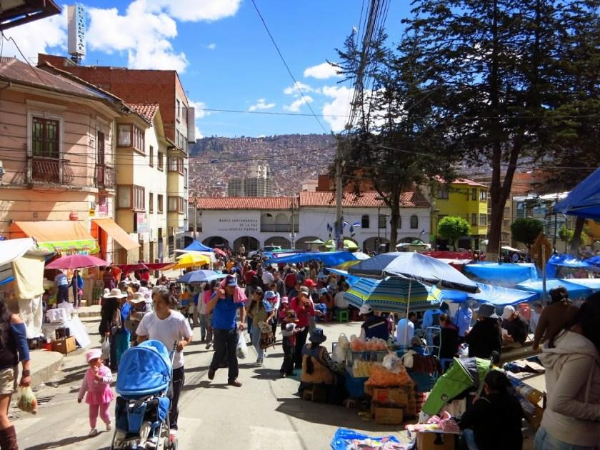 La Paz Straßenfest am Wahltag