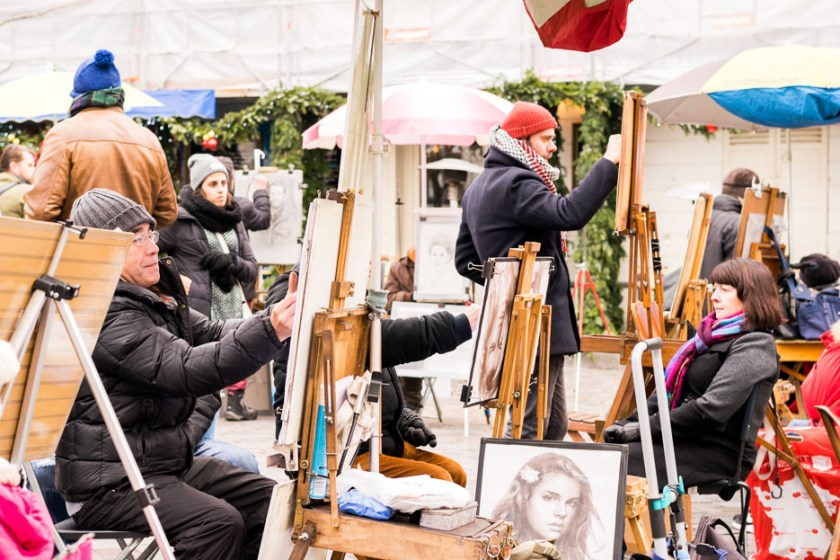 Paris Montmartre Künstler
