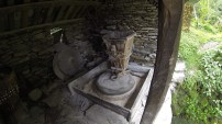 Traditional water powered stone grinding mill.