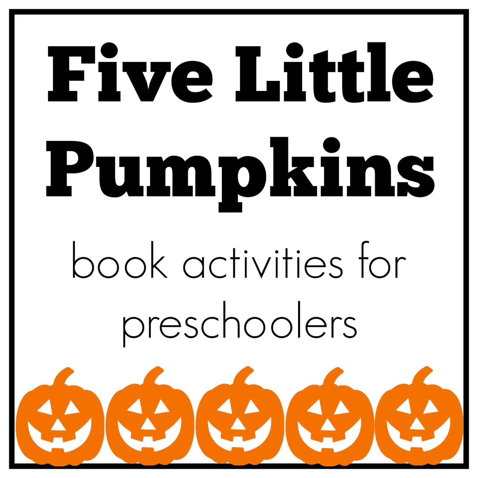 Mommy And Me Book Club Five Little Pumpkins