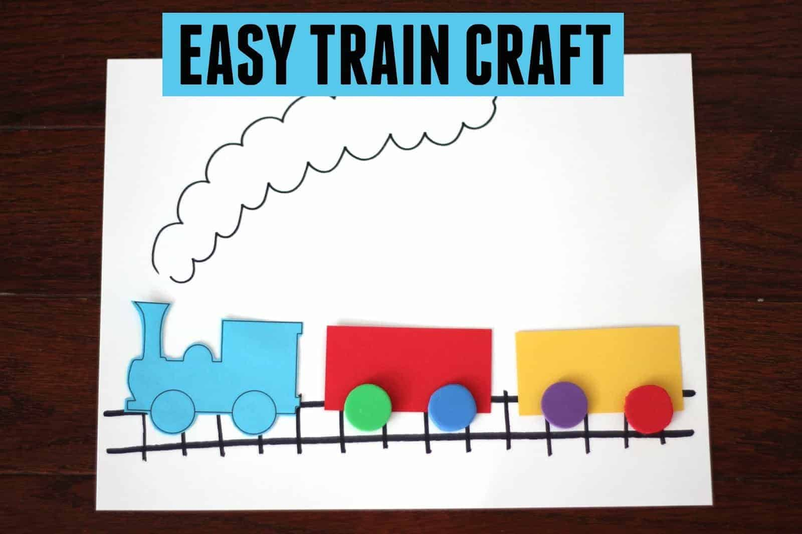 Easy Train Craft For Kids