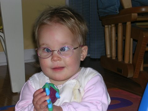 Ellie's first glasses at 9 months