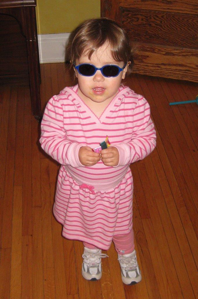 Zoe's new sunglasses