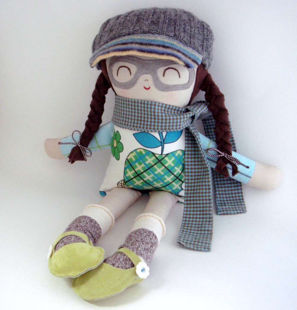 Too Sweet Handmade Dolls With Patches And Glasses For