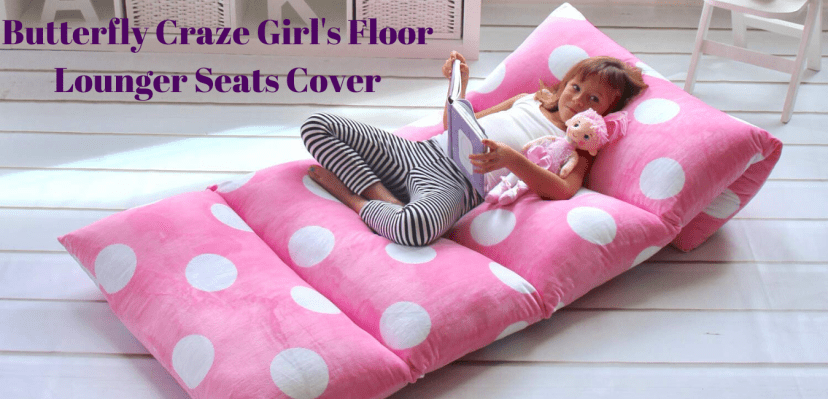 Butterfly Craze Girls Floor Lounger Seats Cover