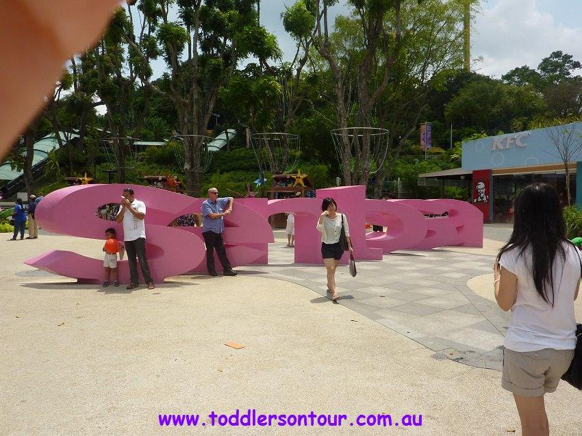 Sentosa Island with toddler