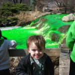 St. Patrick's Waterfall Dyeing at Lake Katherine