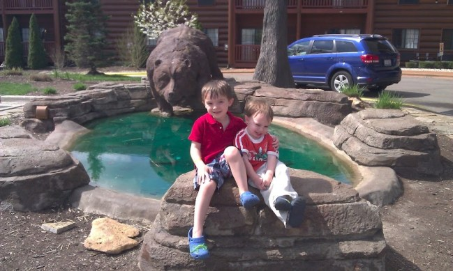 GJGBR - boys by pond