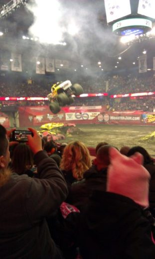Monster Jam - jump - Toddling Around Chicagoland