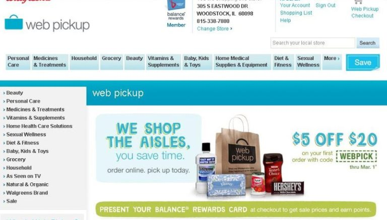 DEERFIELD, Ill., Nov. 29, - Walgreens (NYSE:WAG)(NASDAQ:WAG) has combined the convenience of online shopping with its neighborhood stores, introducing its new Web Pickup service at locations throughout the Indianapolis area.