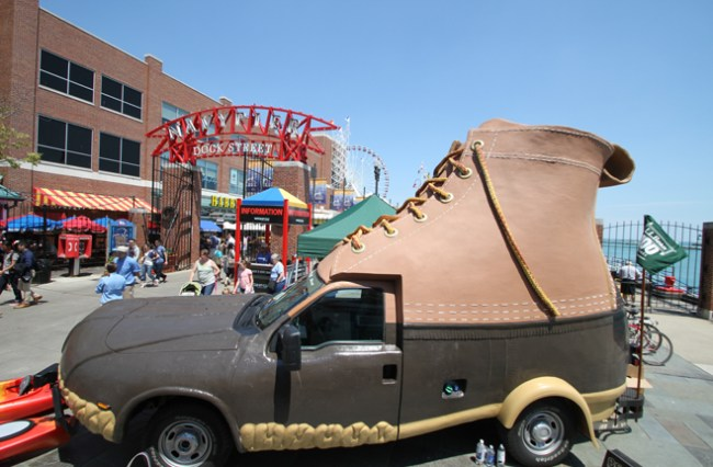 LL Bean Navy Pier Bootmobile