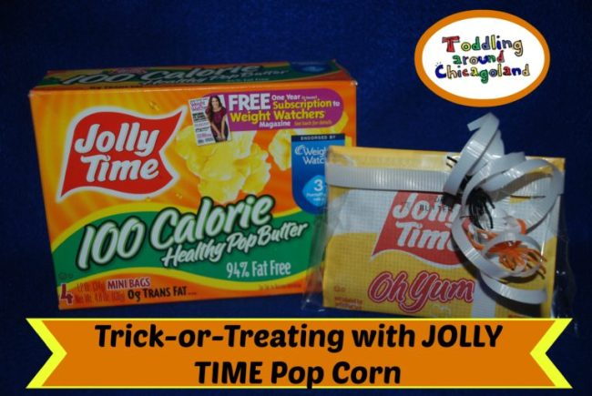 Trick-or-Treating with Jolly Time Pop Corn - Toddling Around Chicagoland