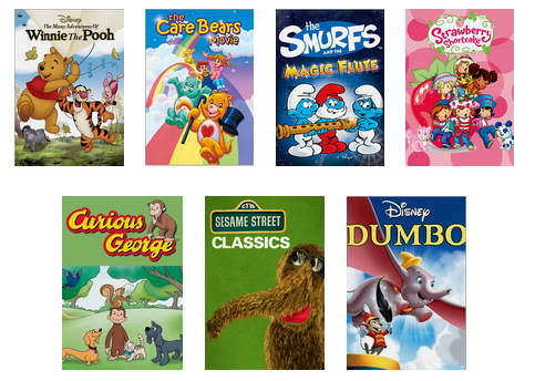 Netflix Stream Team April retro little kids