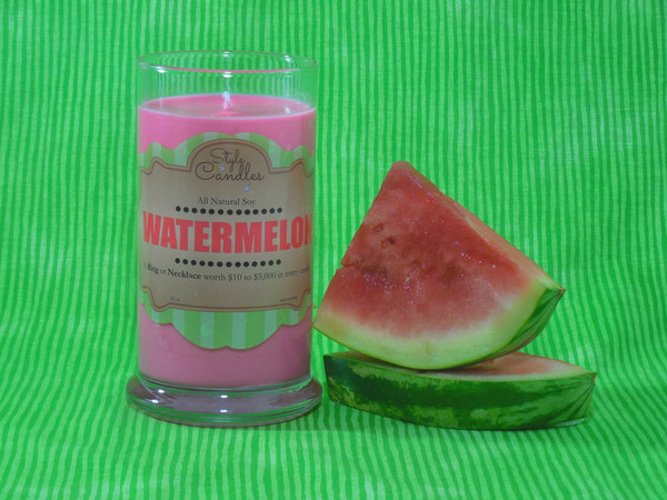 Watermelon Style Candles - Toddling Around Chicagoland #giveaway