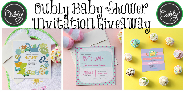 Oubly baby shower invitation giveaway - Toddling Around Chicagoland