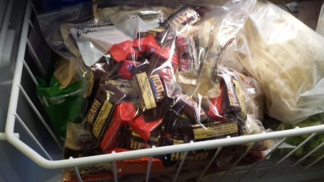 8 Things to do with Leftover Halloween Candy - freeze it!