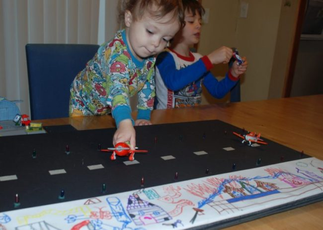 Disney Planes to the Rescue - Tutorial for a DIY Runway #PlanesToTheRescue #CBias #shop