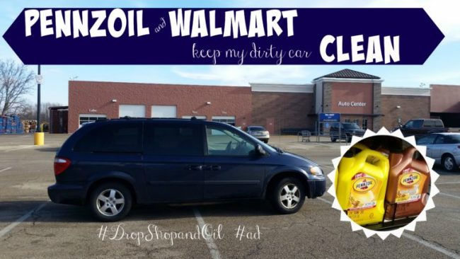 Pennzoil & Walmart Keep My Dirty Car Clean #DropShopandOil #ad