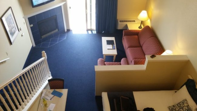 Blue Harbor Resort - Loft Suite - view from loft