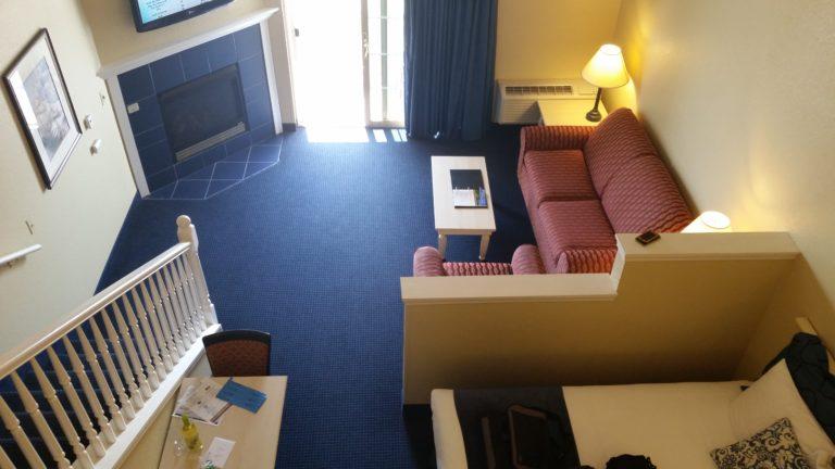 Good Blue Harbor Resort Loft Suite view from loft