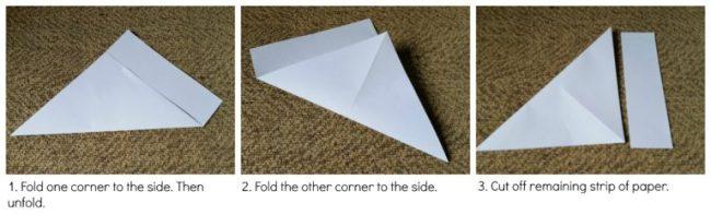 Paper fortune teller - steps 1-3
