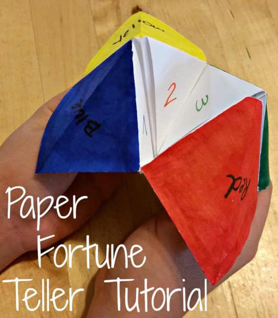Paper fortune teller tutorial #streamteam