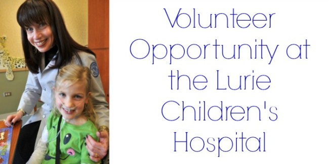 Volunteer Opportunity at the Lurie Children's Hospital