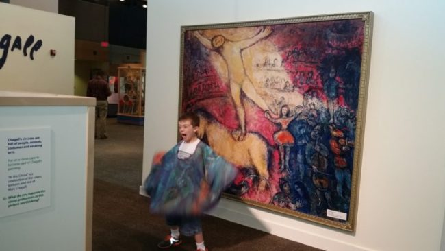 Chagall for Children at the Kohl Children's Museum - At the Circus