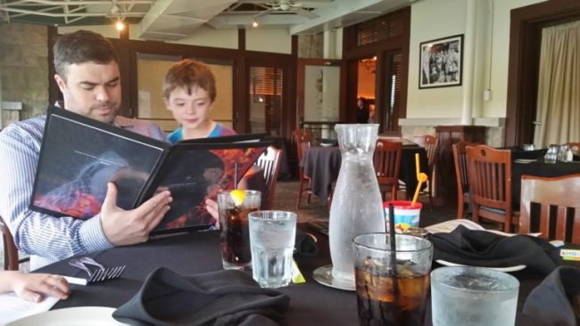 Family Dining at Weber Grill #webergram - reading menu