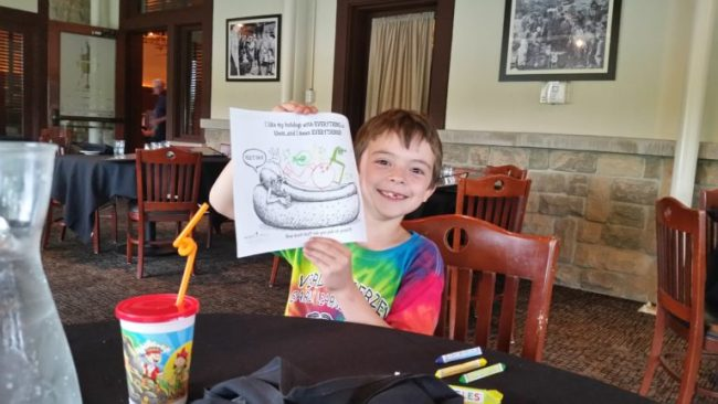 Family Dining at Weber Grill #webergram - coloring