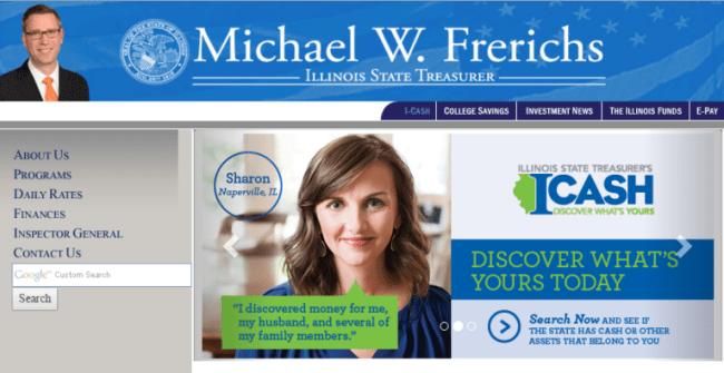 Illinois Treasurer homepage