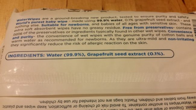 WaterWipes ingredients