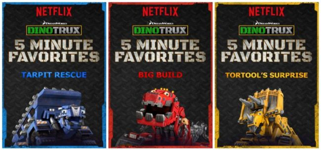 Netflix #StreamTeam #Dinotrux 5 Minute Favorites [ad]